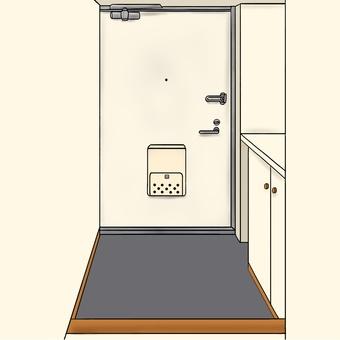 Front door (door white)