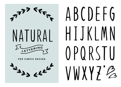 Natural Handwritten Alphabet