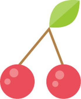 Cherry illustration material
