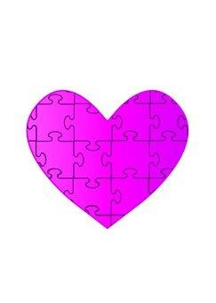Heart puzzle (peach)