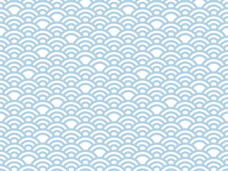 일본식 디자인 원활한 패턴 집 칭하이 파 04 / 파랑