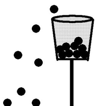 Basket of Balls (monochrome) Dark