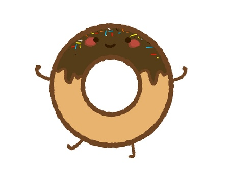 Chocolate donut (with topping)
