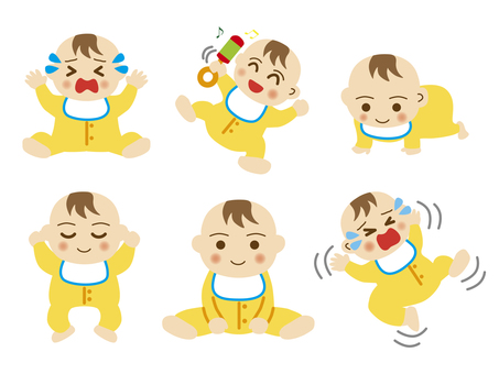 Baby set illustration