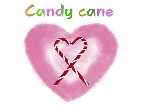 Candy cane and heart