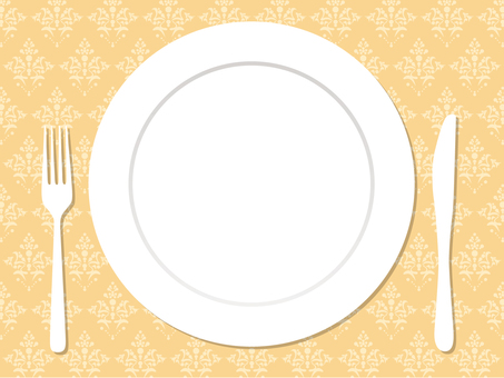 Plate, knife and fork _5
