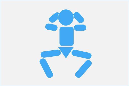 Squat pictogram