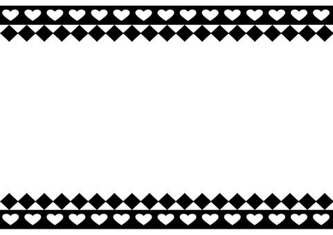 Heart and diamond frame