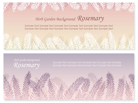 Herb Background Set Rosemary 1