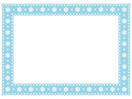Snow Crystal Lace Frame 4