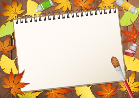 芸術の秋 紅葉スケッチ