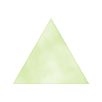 Hand drawn watercolor triangle green / yellow green / green
