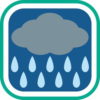 Weather icon rainy night 4