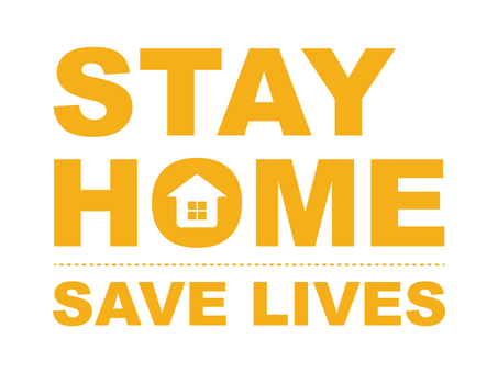 Stay home STAY HOME (yellow)