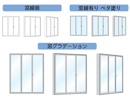 Window folding window 3 sheets glass
