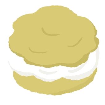 Cream puff with lots of cream