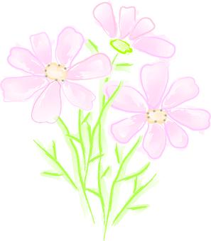 Flower watercolor style