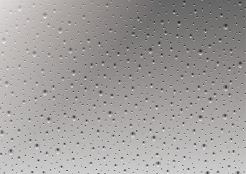 Glass with water droplets