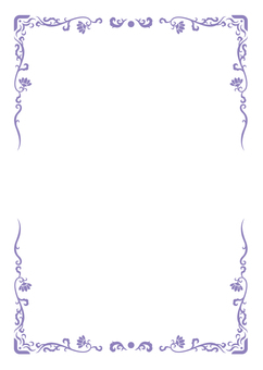 Asian style A4 frame (purple)