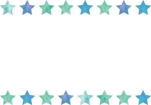 水彩フレーム_星