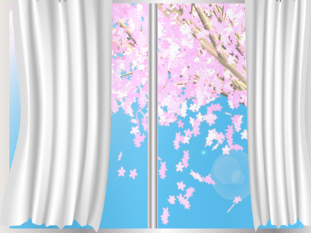 A room with a view of cherry blossoms