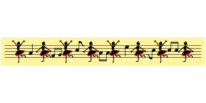 춤추는 소녀 마스킹 테이프 바람