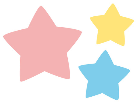 Three star pastel colors