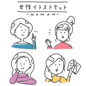 女性插圖集