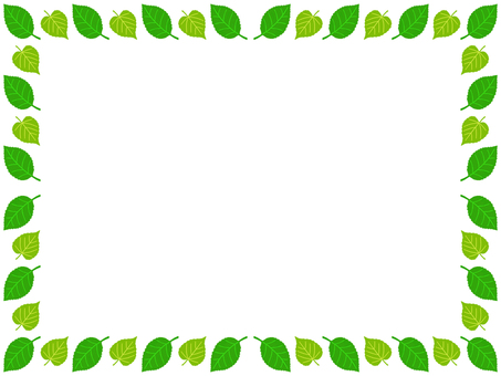 Leaf frame simple decoration frame material illustration