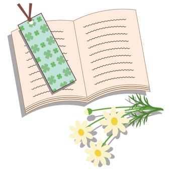 鮮花和書籍/閱讀的圖像