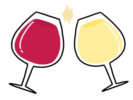 White wine and red wine