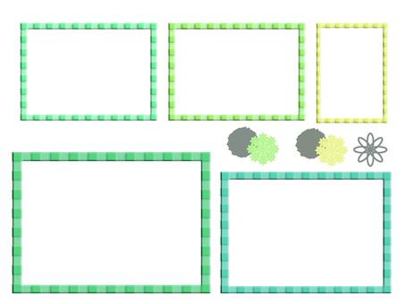 Square frame green