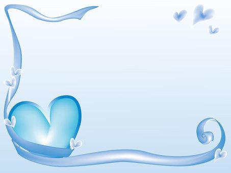 Heart Frame 1 Blue Background color only