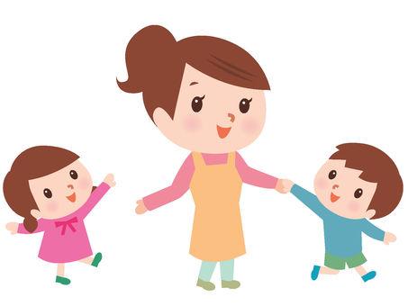 Nursery teacher Women Play with children