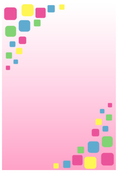 Postcard Background Pink Colorful Block Vertical