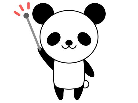 동물 팬더 지시봉