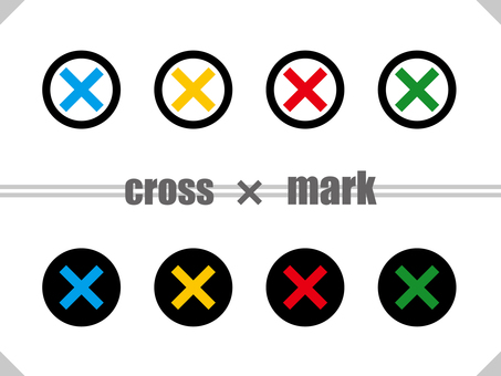 Cross mark round set TYPE02