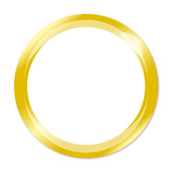 Golden round button frame