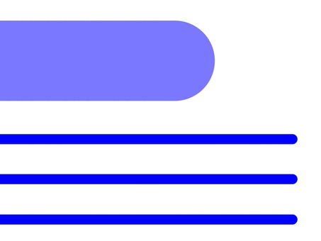 Business card (blue line)
