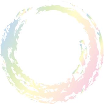 Pastel color rainbow color circle