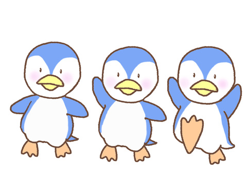 Three penguin brothers