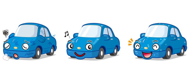 Car wash car care illustrations