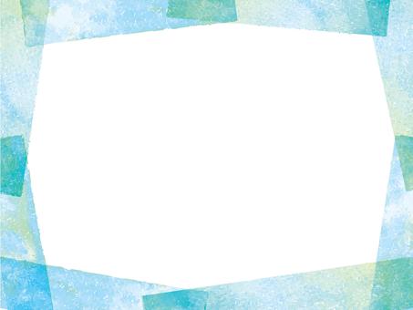 フレーム飾り枠水彩背景手描き和春夏青装飾