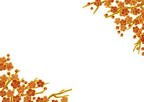 Japanese plum pattern frame