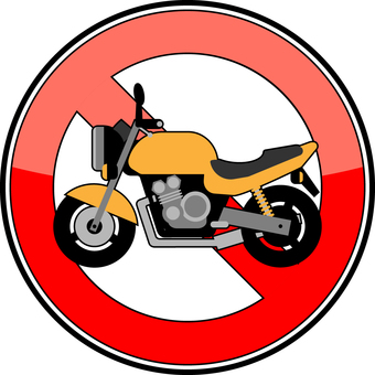 Motorcycle / bicycle parking prohibition sign