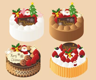 Various Christmas cakes