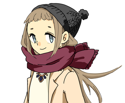 Winter girl (bust up)