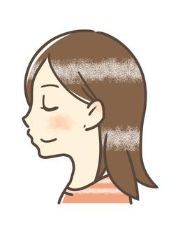 Double chin improvement woman profile smile