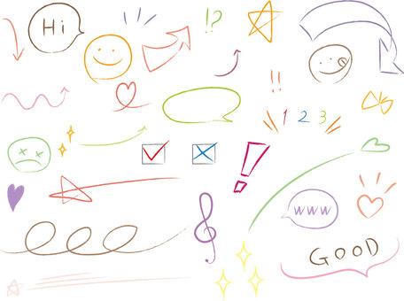 Scribble_pastel color_set
