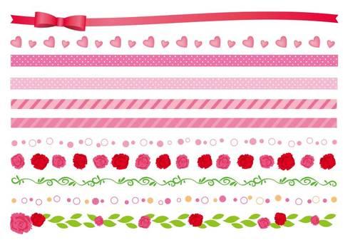Decoration material 042 Line set